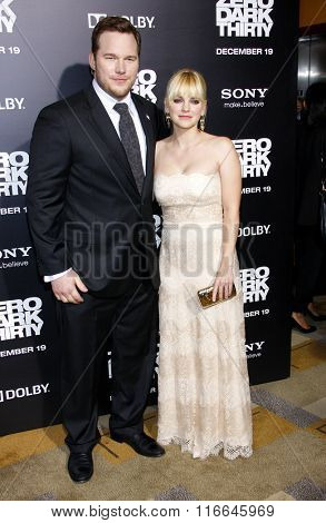 Anna Faris and Chris Pratt at the Los Angeles Premiere of