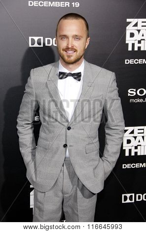 Aaron Paul at the Los Angeles Premiere of