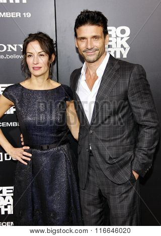 Frank Grillo and Wndy Moniz at the Los Angeles Premiere of