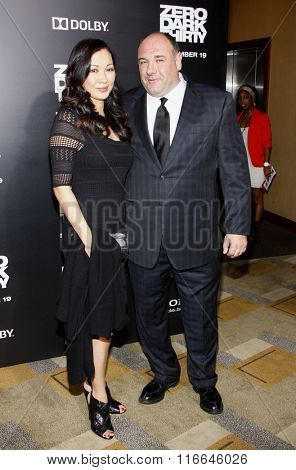 James Gandolfini and Deborah Lin at the Los Angeles Premiere of
