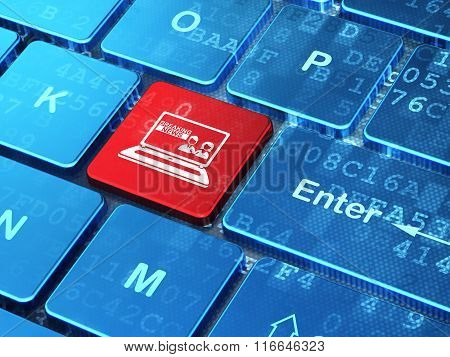 News concept: Breaking News On Laptop on computer keyboard background