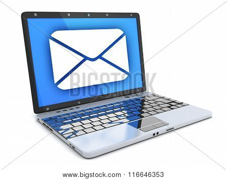 Laptop And Abstract E-mail