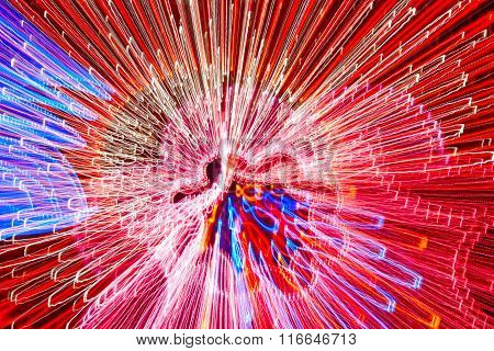Moving Colored Lights Background. Abstract Psychedelic Backdrop