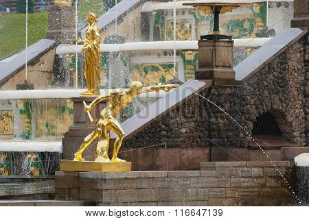 Peterhof. Russia. The Grand Cascade