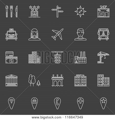 City or town icons