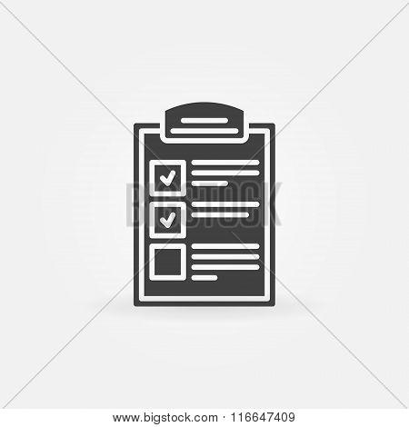 Clipboard icon or logo