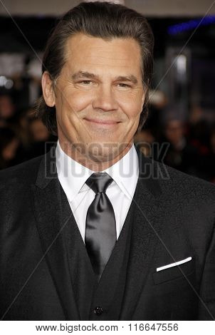 Josh Brolin at the World premiere of 'Hail, Caesar!' held at the Regency Village Theatre in Westwood, USA on February 1, 2016.