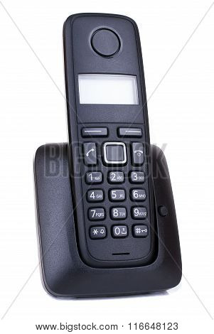 Wireless black telephone