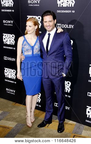 Jessica Chastain and Edgar Ramirez at the Los Angeles Premiere of