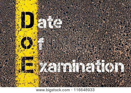 Business Acronym Doe Date Of Examination