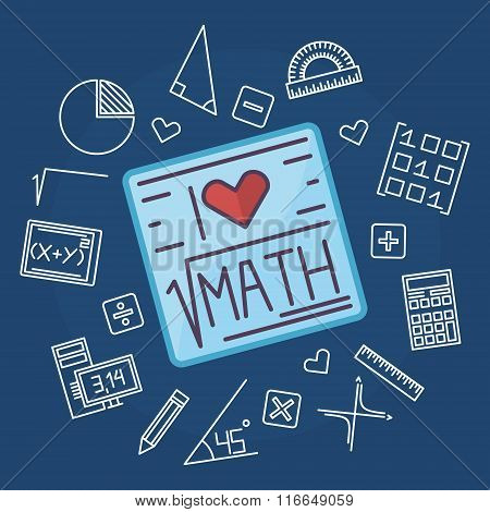 Math education vector background