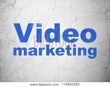 Marketing concept: Video Marketing on wall background