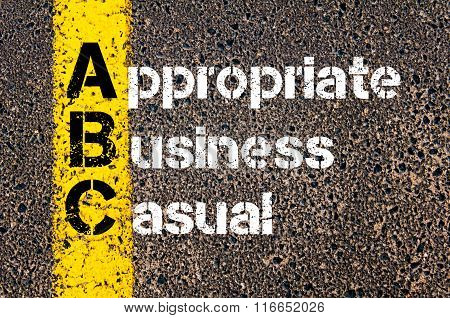 Business Acronym Abc Appropriate Business Casual