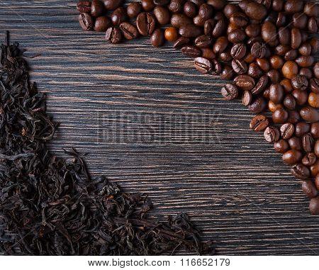 black tea and coffee