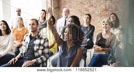 Business Team Meeting Seminar Training Concept