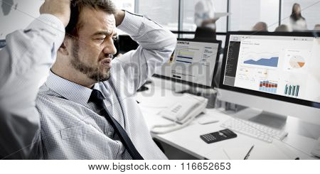 Businessman Stressful Finance Business Problem Concept