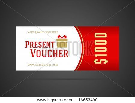 Gift Voucher Template Design and Vintage Style vector illustration. Voucher Vector, Voucher Template, Gift Card, Coupon Template, Gift Certificate, Vintage Ornament.
