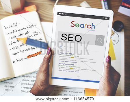 SEO Search Engine Optimization Business Marketing Concept