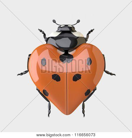 Ladybug - Heart shaped Ladybug