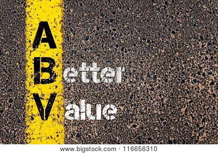 Business Acronym Abv A Better Value