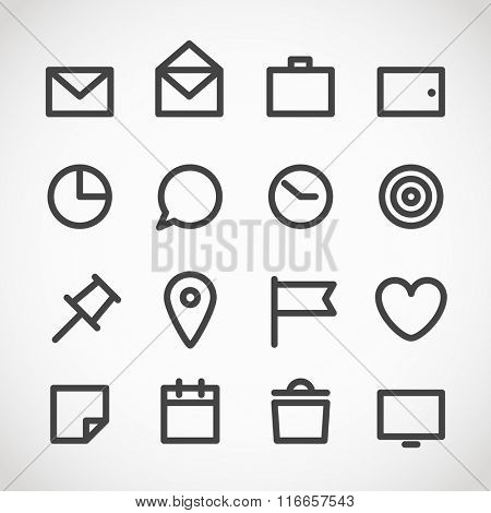 Modern gadget web icons collection
