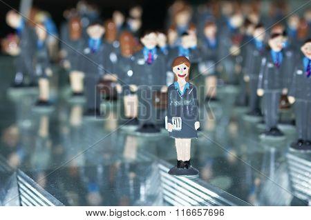 Women businessman toy