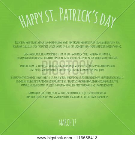 Happy Saint Patrick Day Card