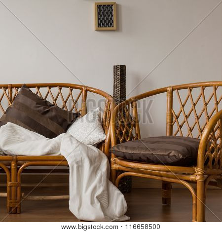 Stylish Brown Wicker Chairs