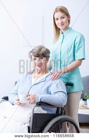 Young Caregiver And Senior Woman