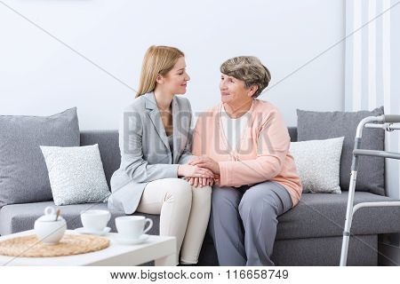 Friendship Between Grandmother And Granddaughter