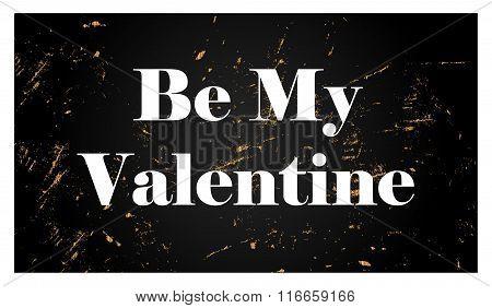 Be My Valentine  golden style illustration
