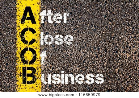 Business Acronym Acob After Close Of Business