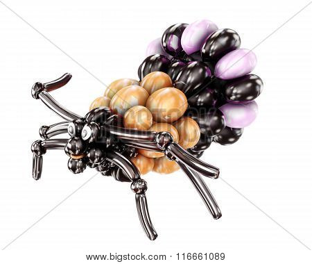 Balloon spider isolated on white background. 3d rendering