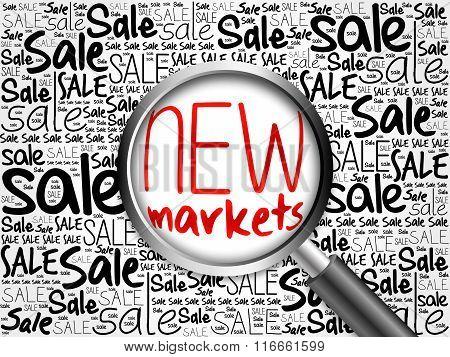 New Markets Sale Word Cloud