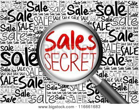 Sales Secret Sale Word Cloud