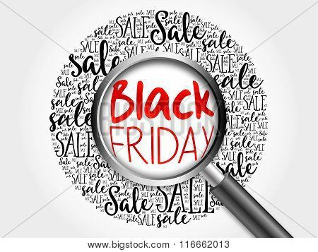 Black Friday Sale Word Cloud