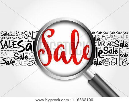 Sale Word Cloud Background