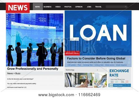 Loan News Article Banking Budget Concept
