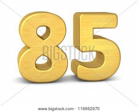 3D Number 85 Gold