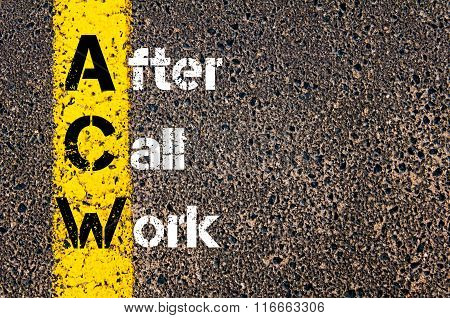 Business Acronym Acw After Call Work