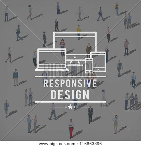 Responsive Design Information Content Layout Concept