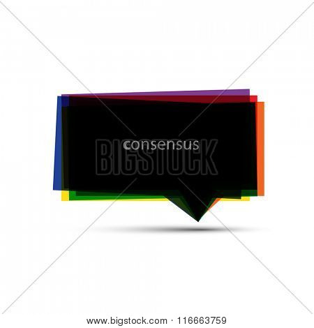 Colorful Speech Bubble Design Template