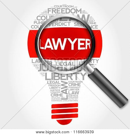 Lawyer Bulb Word Cloud