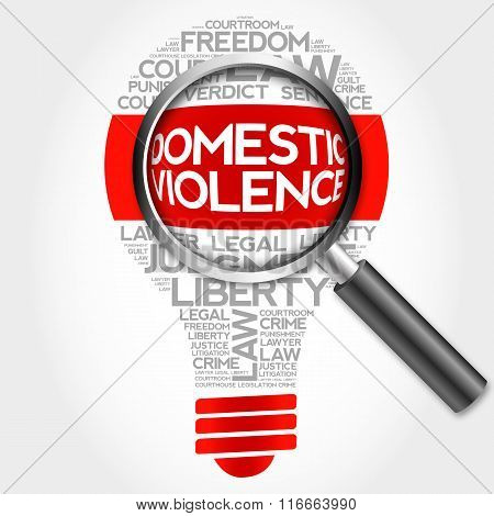 Domestic Violence Bulb Word Cloud
