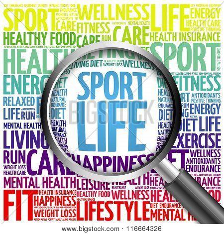 Sport Life Word Cloud