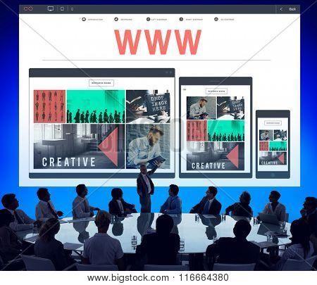 WWW Web Website Internet Network Social Media Concept