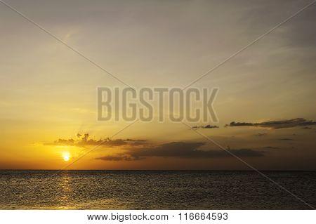 Sky Sunset With Sea