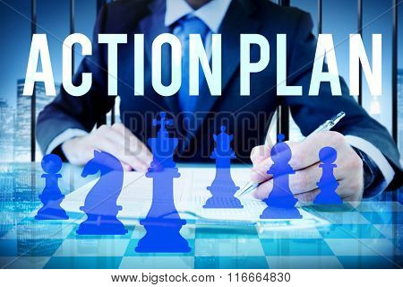 Action Plan Planning Business Future Concept
