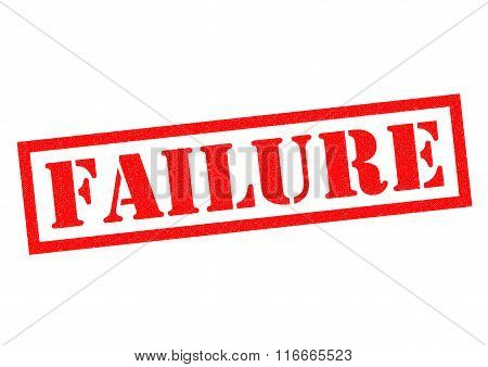 FAILURE red Rubber Stamp over a white background.