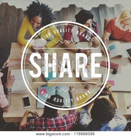 Share Sharing Social Networking Connection Communication Concept